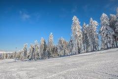 χειμώνας εποχής τοπίων ωρών Στοκ Εικόνες