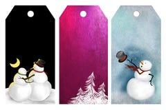 χειμώνας ετικεττών Χριστ&omic Στοκ Εικόνες
