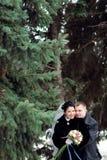 χειμώνας ζευγών Στοκ Φωτογραφία