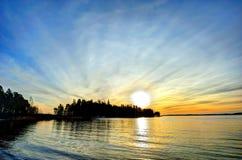 χειμώνας ηλιοβασιλέματος Στοκ φωτογραφίες με δικαίωμα ελεύθερης χρήσης