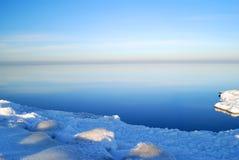χειμώνας θάλασσας τοπίων Στοκ φωτογραφία με δικαίωμα ελεύθερης χρήσης