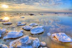 χειμώνας θάλασσας τοπίων h Στοκ Εικόνα
