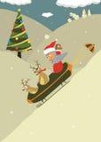 Χειμώνας διακοπών απεικονίσεων santa Χριστουγέννων reind Στοκ φωτογραφίες με δικαίωμα ελεύθερης χρήσης