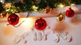 Χειμώνας διακοσμήσεων παιχνιδιών Χριστουγέννων απόθεμα βίντεο