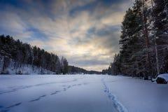 χειμώνας λιμνών πάγου αλιείας Στοκ Εικόνες