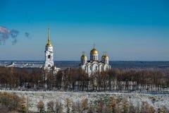 χειμώνας καθεδρικών ναών υπόθεσης vladimir χρυσό δαχτυλίδι Ρωσία στοκ εικόνα με δικαίωμα ελεύθερης χρήσης