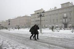 Χειμώνας και καιρός Ψυχρός αέρας Bora Στοκ εικόνες με δικαίωμα ελεύθερης χρήσης