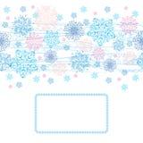 χειμώνας καρτών ανασκόπησης Στοκ Εικόνες