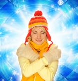 χειμώνας κοριτσιών ιματι&sigma Στοκ Εικόνες