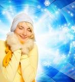 χειμώνας κοριτσιών ιματι&sigma Στοκ φωτογραφία με δικαίωμα ελεύθερης χρήσης