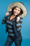 χειμώνας κοριτσιών μόδας Στοκ Φωτογραφία