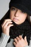 χειμώνας κοριτσιών μόδας Στοκ φωτογραφίες με δικαίωμα ελεύθερης χρήσης