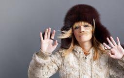 χειμώνας κοριτσιών μόδας Στοκ εικόνα με δικαίωμα ελεύθερης χρήσης
