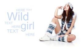 χειμώνας κοριτσιών μόδας Στοκ Εικόνες