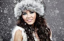 χειμώνας κοριτσιών μόδας Στοκ εικόνες με δικαίωμα ελεύθερης χρήσης