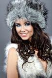 χειμώνας κοριτσιών μόδας Στοκ Εικόνα