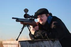 χειμώνας κυνηγών Στοκ Εικόνες