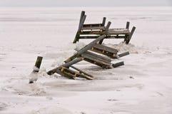 χειμώνας λιμενοβραχιόνων Στοκ φωτογραφία με δικαίωμα ελεύθερης χρήσης