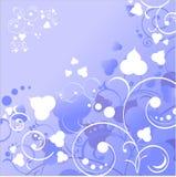 χειμώνας λουλουδιών ανασκόπησης διανυσματική απεικόνιση