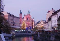 Χειμώνας Λουμπλιάνα Στοκ εικόνα με δικαίωμα ελεύθερης χρήσης