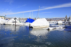 χειμώνας μαρινών βαρκών Στοκ εικόνα με δικαίωμα ελεύθερης χρήσης
