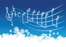 χειμώνας μουσικής διανυσματική απεικόνιση
