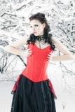 χειμώνας μόδας υπαίθρια Στοκ Εικόνα