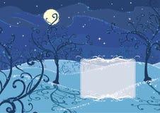χειμώνας νύχτας ανασκόπηση Στοκ φωτογραφία με δικαίωμα ελεύθερης χρήσης