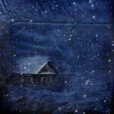 χειμώνας νύχτας χιονοθύε&lam Διανυσματική απεικόνιση