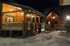 χειμώνας νύχτας Στοκ Εικόνα