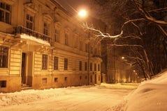 χειμώνας νύχτας Στοκ Φωτογραφία