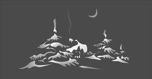 χειμώνας νύχτας ελεύθερη απεικόνιση δικαιώματος