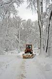 χειμώνας οδικών τρακτέρ κα Στοκ εικόνα με δικαίωμα ελεύθερης χρήσης