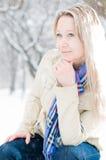 χειμώνας οδών κοριτσιών Στοκ φωτογραφία με δικαίωμα ελεύθερης χρήσης