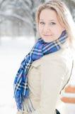 χειμώνας οδών κοριτσιών Στοκ εικόνες με δικαίωμα ελεύθερης χρήσης