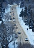 χειμώνας οδών πόλεων Στοκ Φωτογραφία