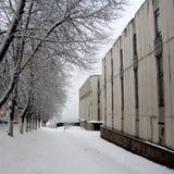 χειμώνας οδών χιονιού μερώ&nu Στοκ Φωτογραφίες