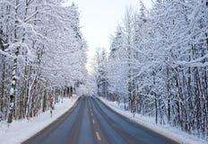 χειμώνας οδών Στοκ Εικόνα