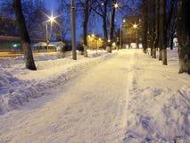 χειμώνας οδών Στοκ φωτογραφίες με δικαίωμα ελεύθερης χρήσης