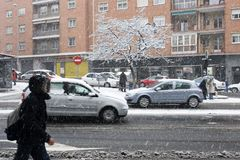 χειμώνας οδών Στοκ Φωτογραφίες