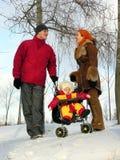 χειμώνας οικογενειακώ&nu Στοκ εικόνες με δικαίωμα ελεύθερης χρήσης