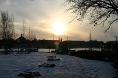 χειμώνας ουρανού 2 Στοκ Εικόνες
