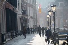 Χειμώνας-ουρανός πέρα από de Zaanse Schans στην Ολλανδία Στοκ Εικόνα