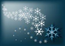 χειμώνας οδικού χιονιού ανασκόπησης απεικόνιση αποθεμάτων