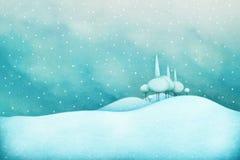 χειμώνας οδικού χιονιού ανασκόπησης διανυσματική απεικόνιση