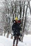 Χειμώνας οδών ζεύγους Στοκ Εικόνα