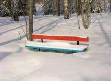 χειμώνας πάγκων Στοκ Εικόνα