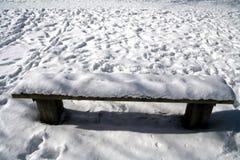 χειμώνας πάγκων Στοκ εικόνες με δικαίωμα ελεύθερης χρήσης