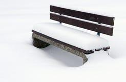 χειμώνας πάγκων Στοκ εικόνα με δικαίωμα ελεύθερης χρήσης
