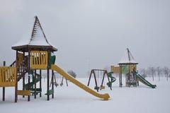 χειμώνας παιδικών χαρών Στοκ φωτογραφία με δικαίωμα ελεύθερης χρήσης
